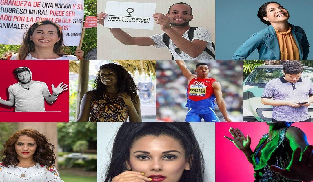 Diez jóvenes que impactaron en la Cuba del 2019