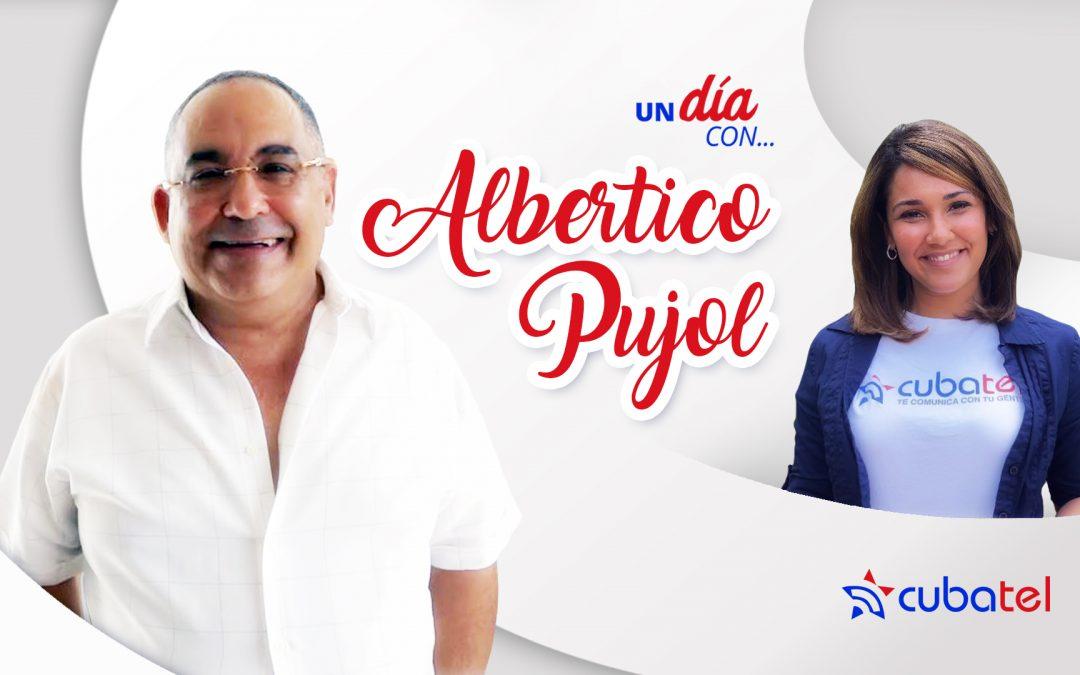 Camila Arteche en un día con Albertico Pujol